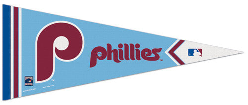 "Philadelphia Phillies ""Powder Blue"" Retro-1973-86 Style Premium Felt Pennant - Wincraft"