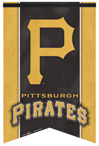 Pittsburgh Pirates Official MLB Team Logo Premium Felt Collector's Banner - Wincraft Inc.