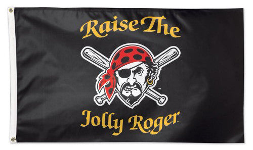 "Pittsburgh Pirates ""Raise the Jolly Roger"" Official MLB Baseball 3'x5' DELUXE Banner Flag -Wincraft"