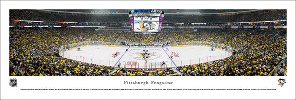Pittsburgh Penguins PPG Paints Arena NHL Game Night Panoramic Poster (2017) - Blakeway Worldwide