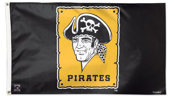 Pittsburgh Pirates Retro 1967-86 Style Cooperstown Collection MLB Baseball Deluxe-Edition 3'x5' Flag