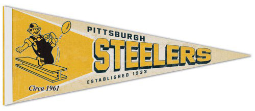 Pittsburgh Steelers NFL Retro-1960s-Style Premium Felt Collector's Pennant - Wincraft Inc.