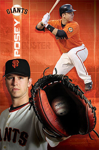 "Buster Posey ""Catch and Smash"" San Francisco Giants Poster - Costacos 2012"