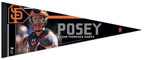 "Buster Posey ""Catcher"" San Francisco Giants Premium Felt Collector's Pennant - Wincraft 2012"
