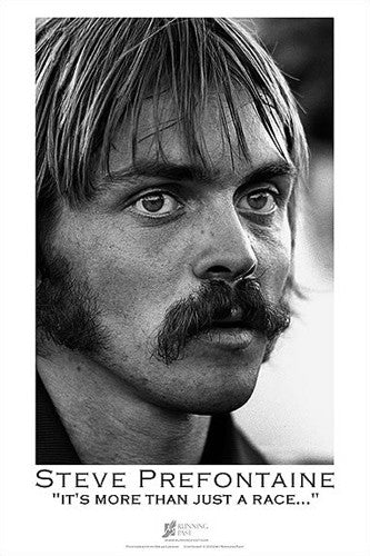 "Steve Prefontaine ""Profile"" Poster Print - Running Past"