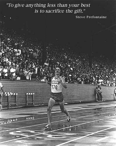 "Steve Prefontaine ""The Gift"" c.1972 Motivational Action Poster - Running Past"