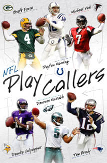 "NFL Quarterbacks ""Play Callers"" Collage (Favre, Manning, Vick, Brady, +) - Costacos 2005"