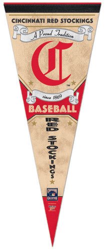 "Cincinnati Reds ""Since 1869"" Cooperstown Collection Premium Felt Pennant - Wincraft Inc."