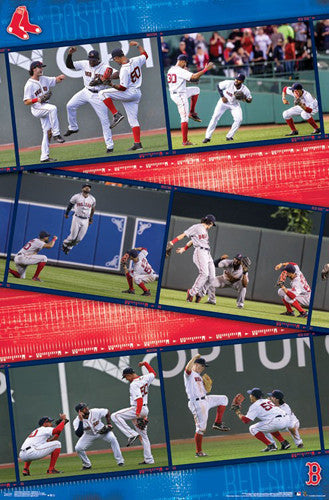 "Boston Red Sox Outfielders ""Win, Dance, Repeat"" Poster - Trends 2017"