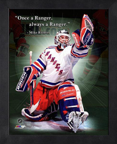 "Mike Richter ""Always a Ranger"" New York Rangers FRAMED 16x20 PRO QUOTES PRINT - Photofile"