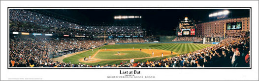 Oriole Park at Camden Yards Cal Ripken Jr.'s Last at Bat Panoramic Poster Print - Everlasting 2001