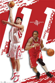 "Houston Rockets ""The Ones"" (Yao Ming, Tracy McGrady) Poster - Costacos 2006"