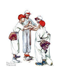 "Classic Baseball Art ""Choosin' Up"" Poster by Norman Rockwell - Haddad's"