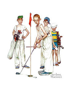 "Classic Golf Art ""Missed"" Poster by Norman Rockwell - Haddad's"