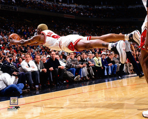 "Dennis Rodman ""Fly"" (1997) Chicago Bulls Premium Poster Print - Photofile Inc."