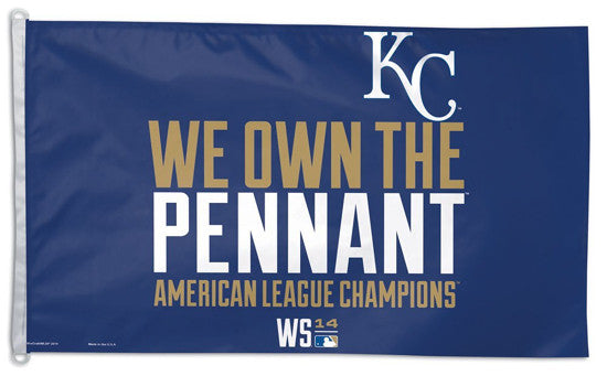 Kansas City Royals 2014 American League Champs Official MLB 3'x5' Flag - Wincraft