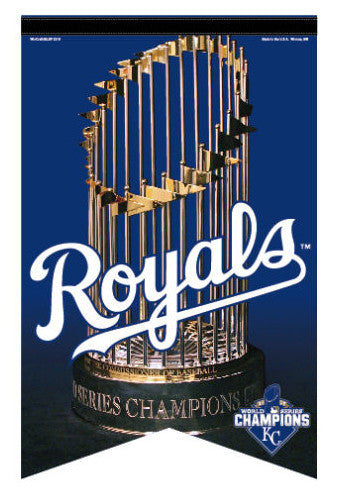 Kansas City Royals 2015 World Series Champions Premium Felt Collector's BANNER