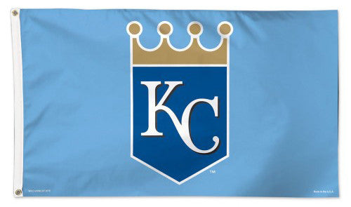 "Kansas City Royals ""KC Crown"" Deluxe-Edition Premium 3'x5' MLB Flag - Wincraft Inc."