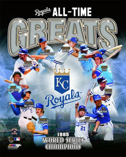 Kansas City Royals Baseball All-Time Greats (11 Legends) Premium Poster Print - Photofile