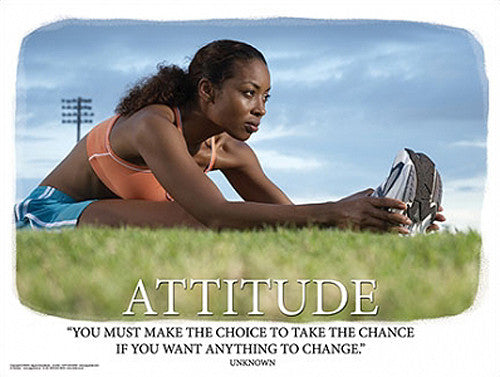 "Runner ""Attitude"" (Take Chances) Motivational Inspirational Poster - Jaguar Inc."