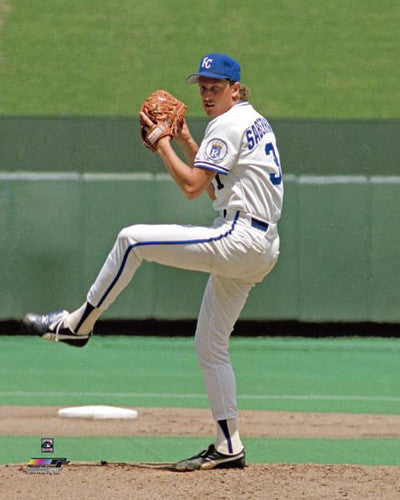 Bret Saberhagen Cooperstown Collection Kansas City Royals c.1985 Premium Poster - Photofile Inc.
