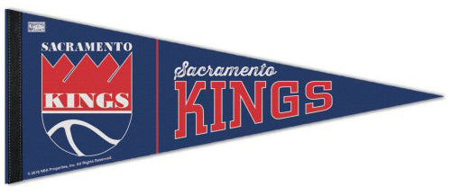 Sacramento Kings Retro 1985-94-Style NBA Basketball Premium Felt PENNANT - Wincraft Inc.