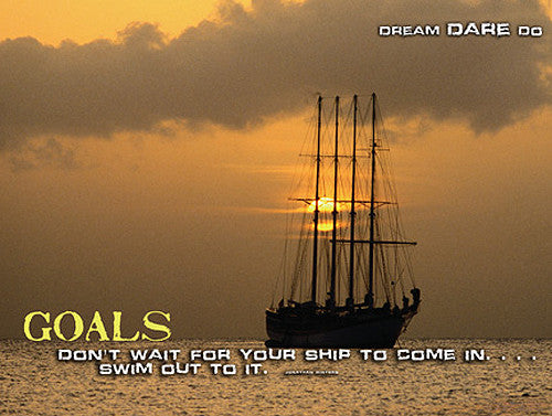 "Sailing ""Goals"" Motivational Inspirational Poster - Jaguar Inc."