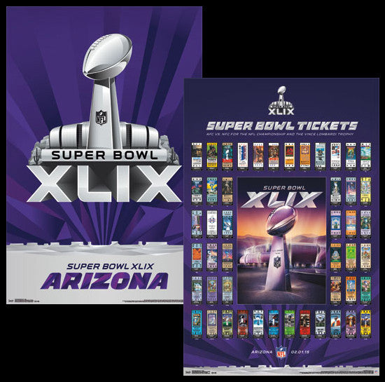 Super Bowl XLIX (Arizona 2015) Official 2-Poster Set - Costacos Sports