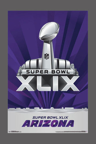 Super Bowl XLIX (Arizona 2015) Official NFL Theme Art Logo Poster - Trends International
