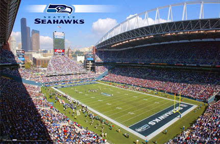 CenturyLink Field Seattle Seahawks Gameday Poster - Costacos Sports