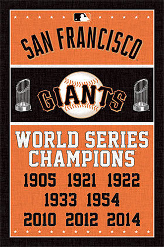 San Francisco Giants 8-Time World Series Champions Commemorative Poster - Trends