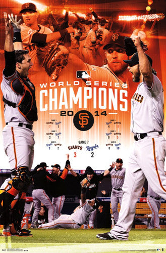 "San Francisco Giants 2014 World Series ""CELEBRATION"" Poster - Costacos Sports"