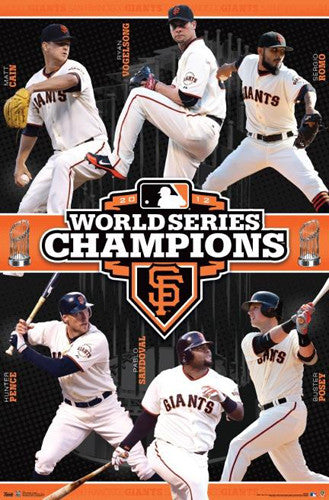 San Francisco Giants 2012 World Series Champions Commemorative Poster - Trends