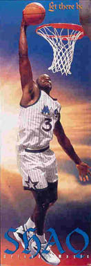 "Shaquille O'Neal ""Let There Be Shaq"" (Door-Sized) Orlando Magic Poster - Costacos Brothers"