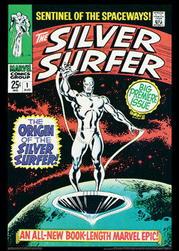 The Silver Surfer #1 (Aug. 1968) Vintage Marvel Comics Cover Poster Poster Print - Asgard Press