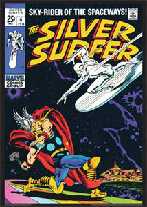 The Silver Surfer #4 (Feb. 1969) Vintage Marvel Comics Cover Poster - Asgard Press
