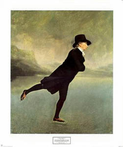 Skating on Duddingston Loch by Sir Henry Raeburn Poster Print - NYGS