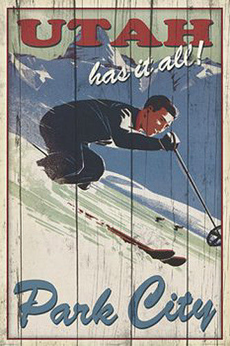 "Skiing Park City, Utah ""Has it All"" Poster Print - Image Source"