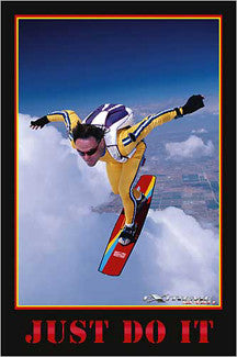 "Sky Surfer ""Just Do It"" Extreme Sports Poster - Eurographics Inc."
