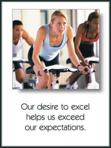 "Spin Class ""Desire"" Motivational Gym Poster - Fitnus Corp."