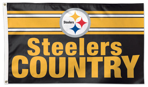 "Pittsburgh Steelers ""Steelers Country"" Giant NFL Football Deluxe 3'x5' FLAG - Wincraft"