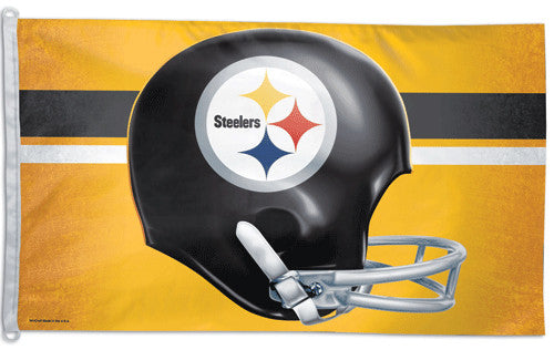"Pittsburgh Steelers ""Helmet"" Official NFL Football 3'x5' Flag - Wincraft Inc."