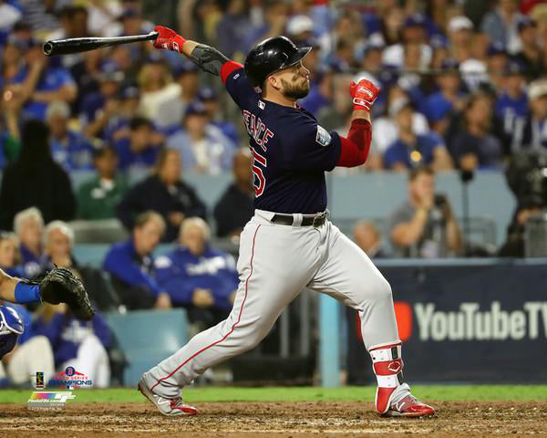 "Steve Pearce ""World Series Blast"" (2018) Boston Red Sox Premium Poster Print - Photofile 16x20"