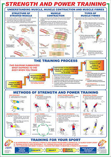 Strength and Power Training Instructional Wall Chart - Chartex Ltd.