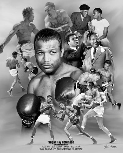 "Sugar Ray Robinson ""Pound for Pound"" Boxing Commemorative Poster Print - Wishum Gregory"