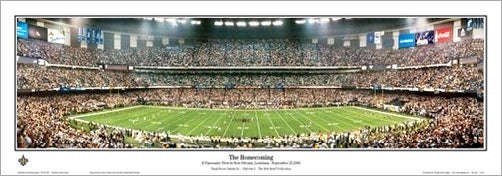 "Louisiana Superdome ""The Homecoming"" New Orleans Saints Panorama - Everlasting Images"
