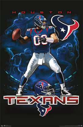 "Houston Texans ""On Fire"" NFL Theme Art Poster - Costacos Sports"