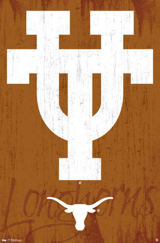"University of Texas Longhorns ""UT Classic"" Official NCAA Logo Poster - Costacos Sports"