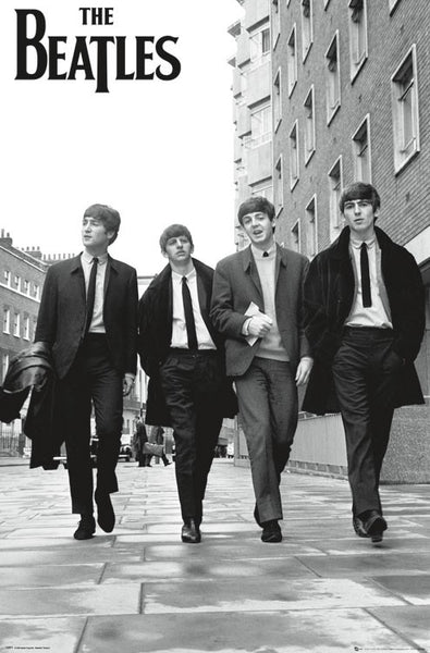 The Beatles Walking in London (1964) Classic Rock Music Legends Poster - Trends Int'l.