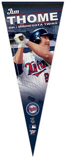 "Jim Thome ""Superstar"" Premium Felt Collector's Pennant (LE /1,000)"